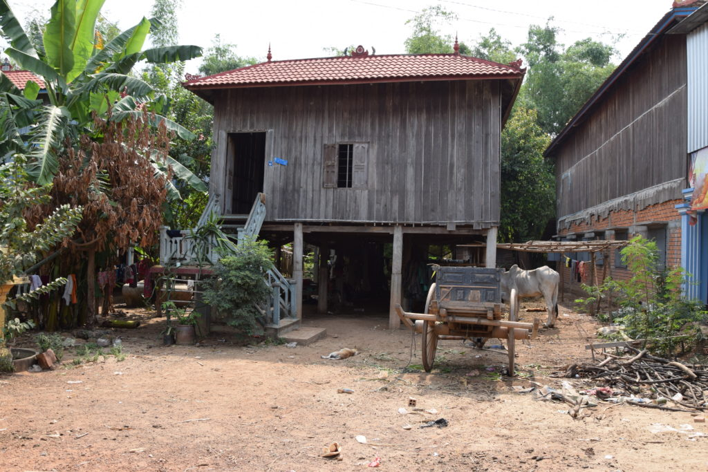 Kambodscha Haus auf Stelzen