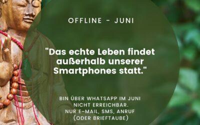 Das echte Leben findet außerhalb unserer Smartphones statt – Digital Detox im Juni